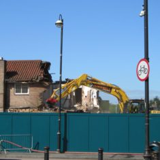 The Ox Public House partially demolished - May 2018 | S Waller