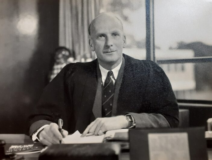 Mr L W Stewart -Headmaster  -Clarendon School 1954 -1966