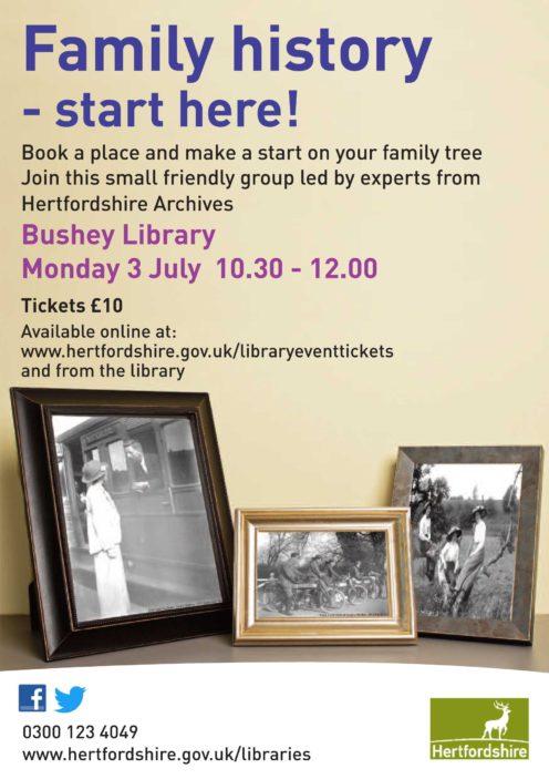 Family History Bushey Library