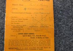 Original Rent Card and Key Receipt