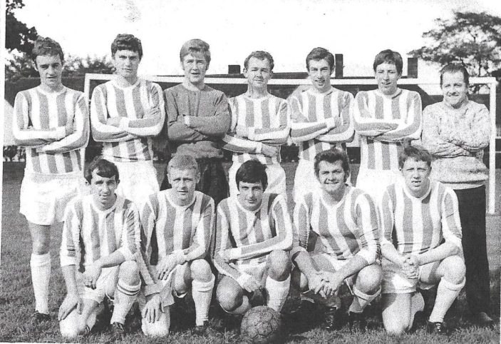 Oxhey Estate United 1968/69 - Back Row = Eddie Dempsey - Kenny Littleboy - Mick Deveraux - John Benning - Ron Voss - Tony Evident - Front Row - Steve Purvis - Ray Cole - Peter Nelhams - Terry Rogers - Eddie Clements