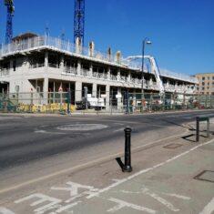 Site of former Post Office - Construction  of Lidl Supermarket 22nd April 2021