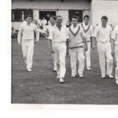 Bushey CC take the field on Sunday, August 16, 1964. John and Peter Swain are 4th and 5th from left. | Watford Observer