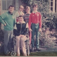 Peter with brother John's family in Threlkeld, Cumbria, September 1984. | John Swain Collection.