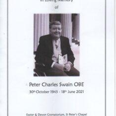 Peter Swain OBE 1945-2021 | John Swain Collection.