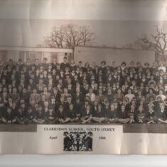 Peter Swain is on the back row as a 3rd former, aged 14 years. | John Swain Collection.