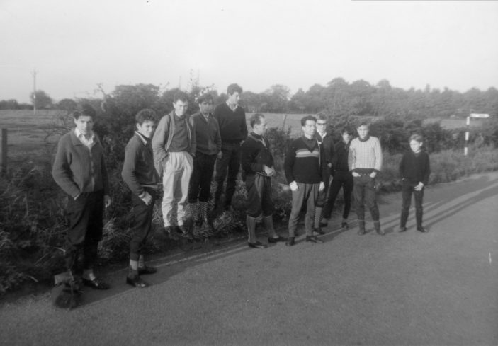Roy on left on club run   Roy Cherington