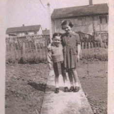 1949 - Back Garden with Brother Alec