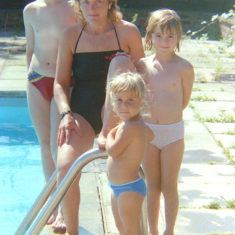 My mum, brother, sister and me. | Joanne Neville