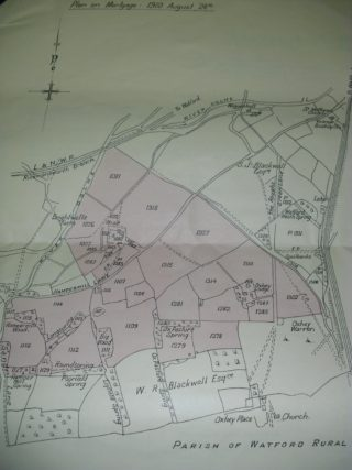Plan on Mortgage 1910   Hertfordshire Archives & Local Studies