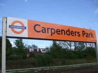 Carpenders Park Station sign