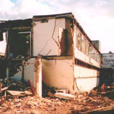 Front of school left side