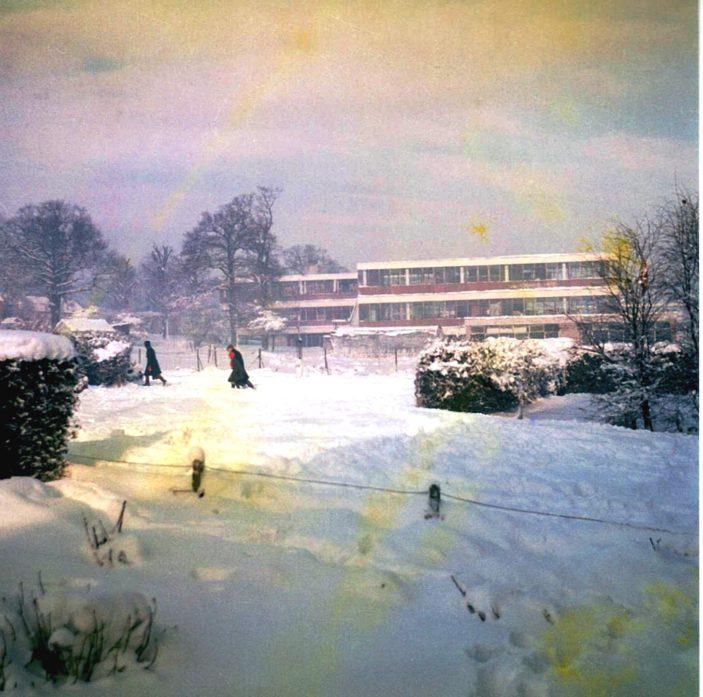 Capel, Carpenter and Ascham Blocks from Muirfield Close Jan 1962 | Frank Waller