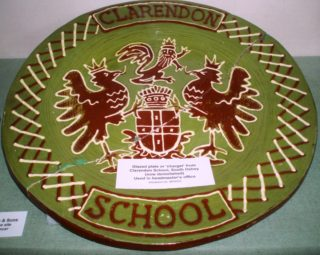 Clarendon School plate   by Beverley Small