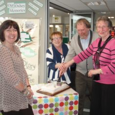 Cutting the celebration cake | by Beverley Small