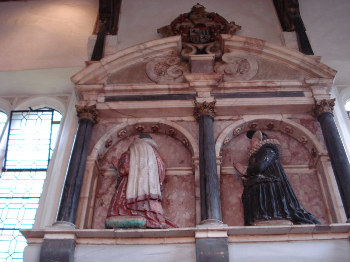 Sir James Altham memorial in oxhey chapel | sue green