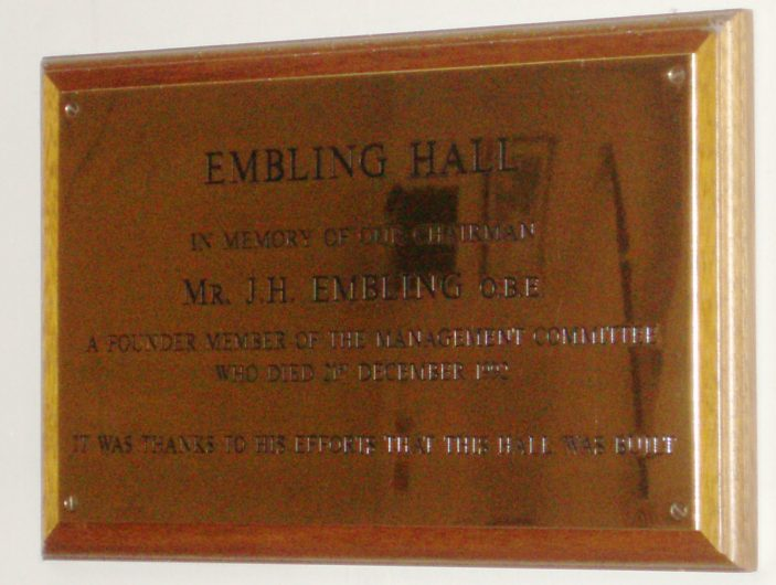 Embling Hall plaque | by Beverley Small
