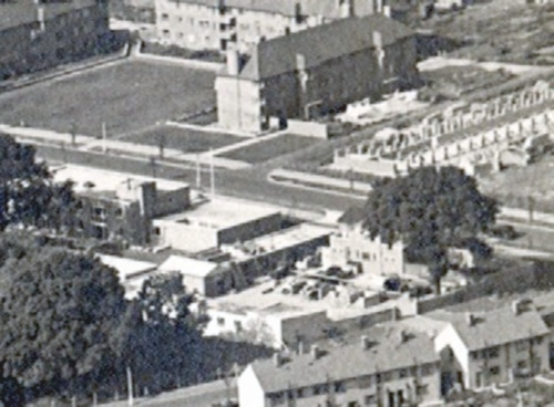 Aerial View of Estate Office and Yard | Home Counties Newspapers at Watford Library - P10714