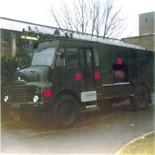 Army ' Green Goddess' Fire Engine at Clarendon School | F. Waller