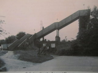 Footbridge to Carpenders Park station from St Meryls Estate
