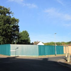 Site of proposed new flats - Ferndown Road
