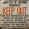 Old Ministry of Defence signs