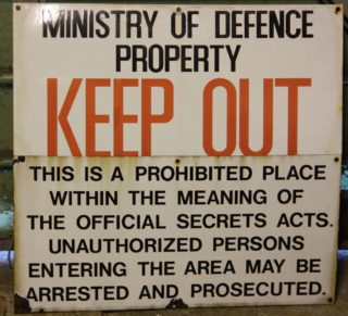 Old Ministry of Defence signs | Neil Hamilton
