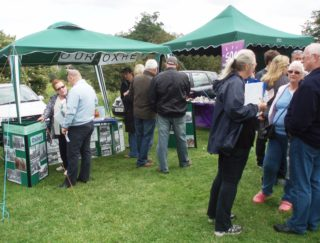 Many people visit our stall   by Beverley Small