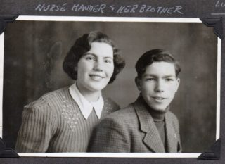 Nurse and her brother | Ruth Heuberger