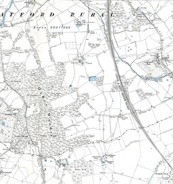 Ordnance Survey 1899, 6 inch | Hertfordshire Archives and Local Studies