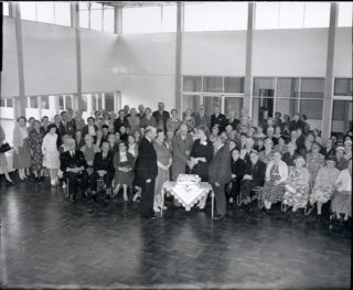 Party in Oxhey Old People's Welfare Club, 1961
