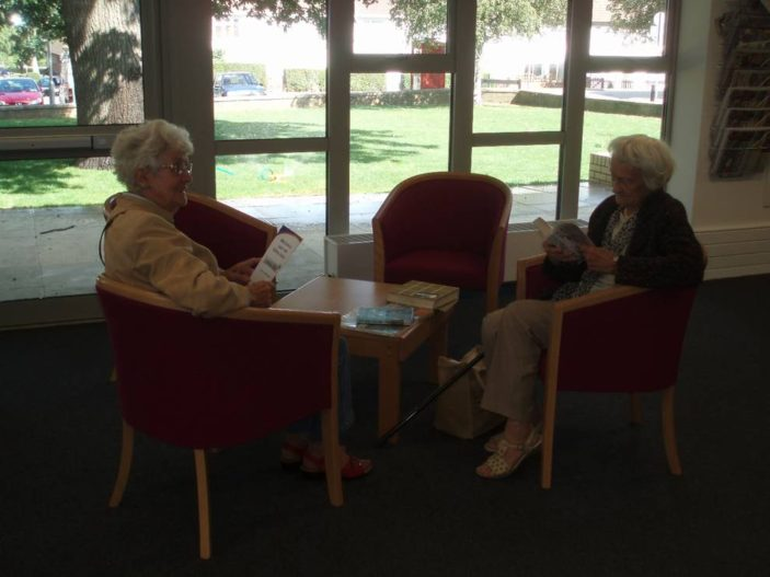 Enjoying the new reading area | by Beverley Small