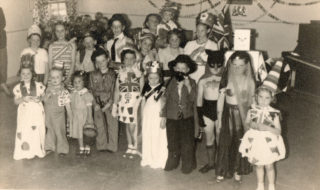 Coronation Party, 1953, Community Hall, Hayling Rd | Deborah Madell (nee Owen)
