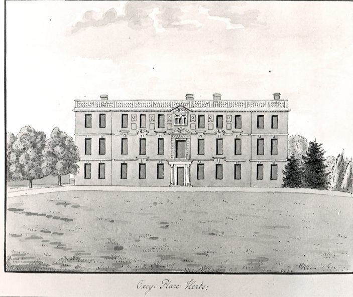 Oxhey Place   Oldfield Collection - Hertfordshire Archives and Local Studies