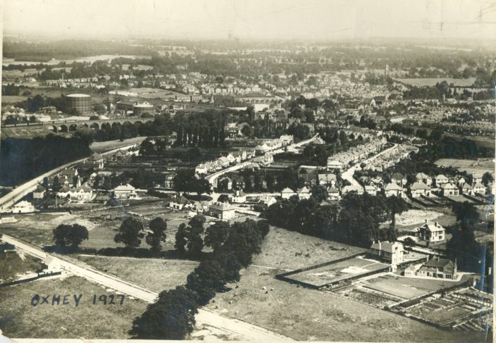 Aerial View of Oxhey 1927 | P93-1974 Photograph Courtesy of Watford Library