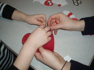 Making Valentine's Day hearts | by Beverley Small