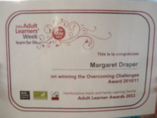Margaret's certificate | by Beverley Small