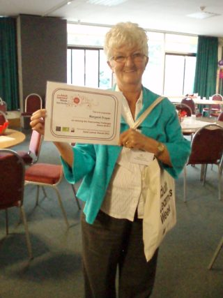 Margaret with her award | by Beverley Small