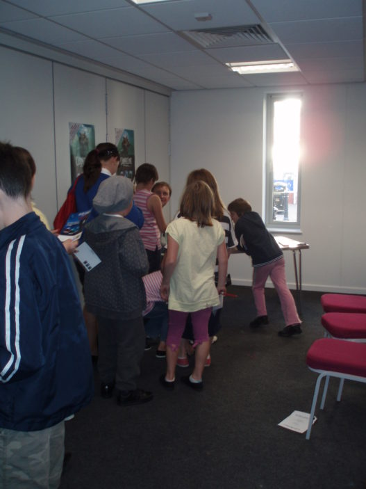 Queueing for Steve's autograph | by Beverley Small