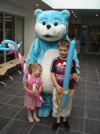 Bookstart Bear and balloons | by Beverley Small