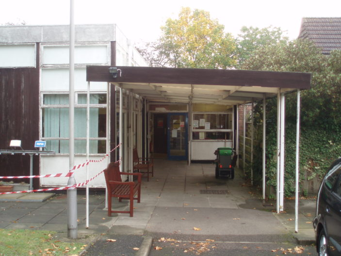 Clitheroe Club back entrance   by Beverley Small