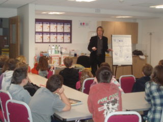 Kev F leading comic workshop | by Beverley Small