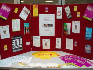 Domestic violence awareness week display 2010 | by Beverley Small