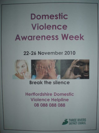 Domestic violence awareness week 2010 poster | by Beverley Small