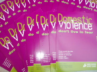 Domestic violence leaflets | by Beverley Small