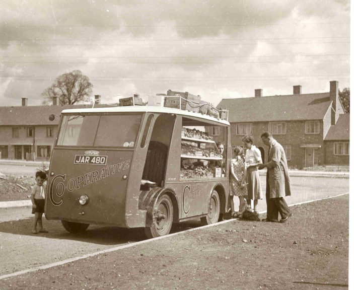 Shopping at the mobile shop 1949 | Hertfordshire Libraries