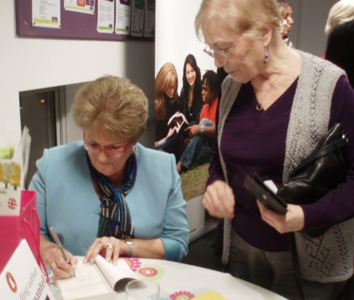 Iris Jones Simantel signing books | by Beverley Small