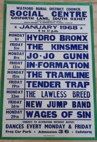 Social Club poster 1968