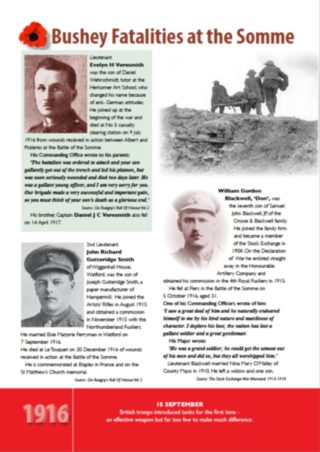 Fatalities at the Somme | Bushey Museum