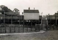Entrance to early Carpenders Park Station from Oxhey Golf Course